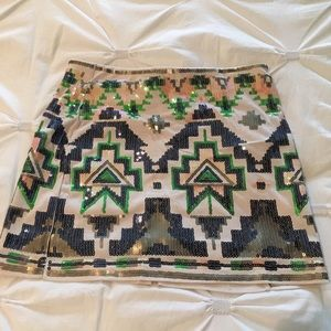 Darling multi colored  sequined mini skirt...